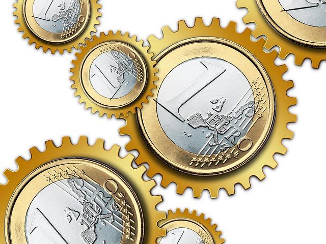 Gears Money Europe Euro Currency Teeth Grinder